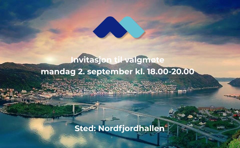 Invitasjon til valgmøte mandag 2. september kl. 18.00-20.00