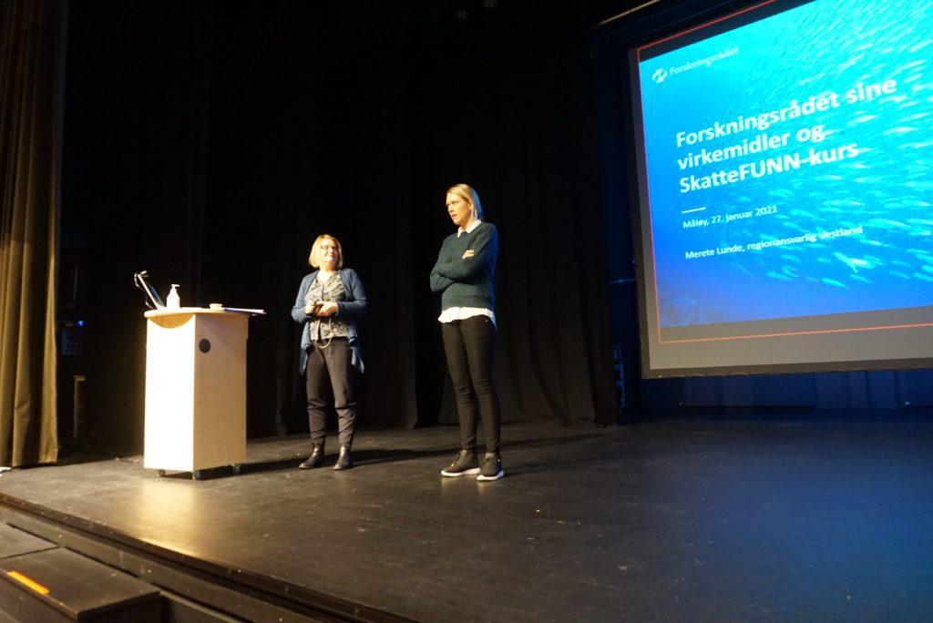 Randi og Merete Lunde, regionalansvarlig i Vestland Forskningsrådet .